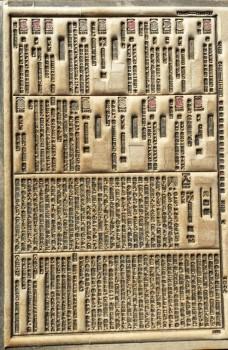 昭和18年刊『大漢和辞典』巻一の紙型